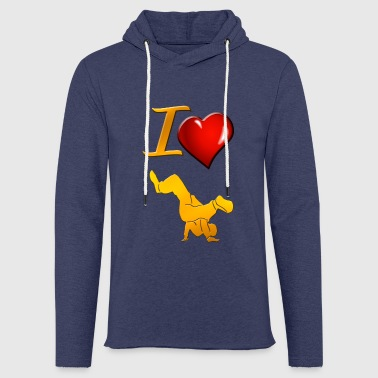 breakdance - Let sweatshirt med hætte, unisex