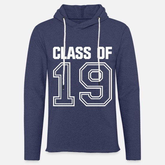 High School Senior Hoodies & Sweatshirts - Class of 2019 school studies end class ' 19 - Unisex Sweatshirt Hoodie heather navy
