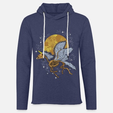 Unicorn Pegasus Skeleton flying among Stars - Unisex Sweatshirt Hoodie