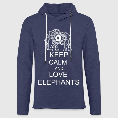 Keep calm and love elephants - Light Unisex Sweatshirt Hoodie