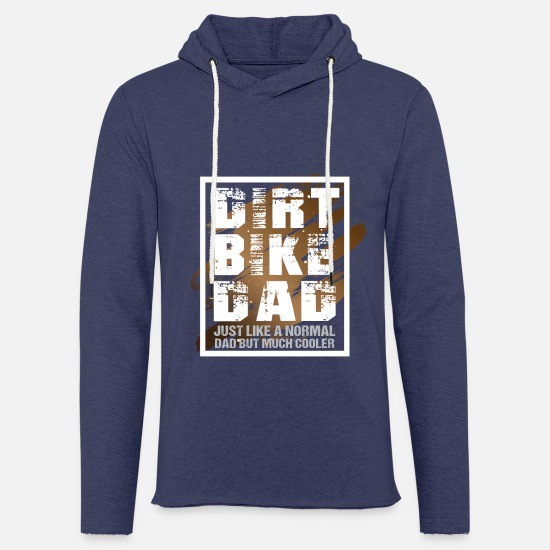 Rocker Pullover & Hoodies - Dirt Bike Dad like a normal Dad but much cooler - Unisex Kapuzen-Sweatshirt Navy meliert