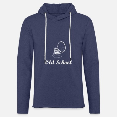 School Old school gramophone | Hip Hop Music Gift - Light Unisex Sweatshirt Hoodie