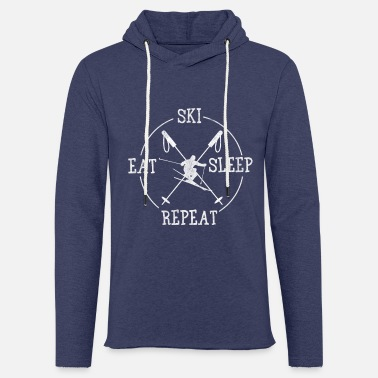 Ski Eat Sleep Repeat - Lett unisex hettegenser