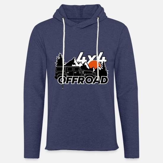 Forest Hoodies & Sweatshirts - Offroad 4x4 Jeep logo - Unisex Sweatshirt Hoodie heather navy