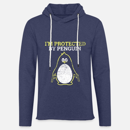 Humour Hoodies & Sweatshirts - Penguin Protect Gift Weapons - Unisex Sweatshirt Hoodie heather navy