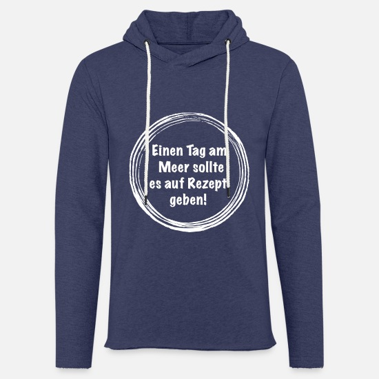 Gift Idea Hoodies & Sweatshirts - Day at the sea gift recipe - Unisex Sweatshirt Hoodie heather navy