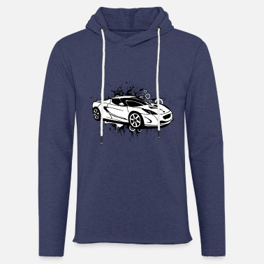 Sportscar Cool white sportscar - Light Unisex Sweatshirt Hoodie