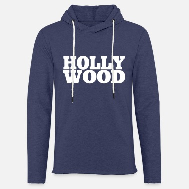 Hollywood Hollywood - Felpa con cappuccio leggera unisex
