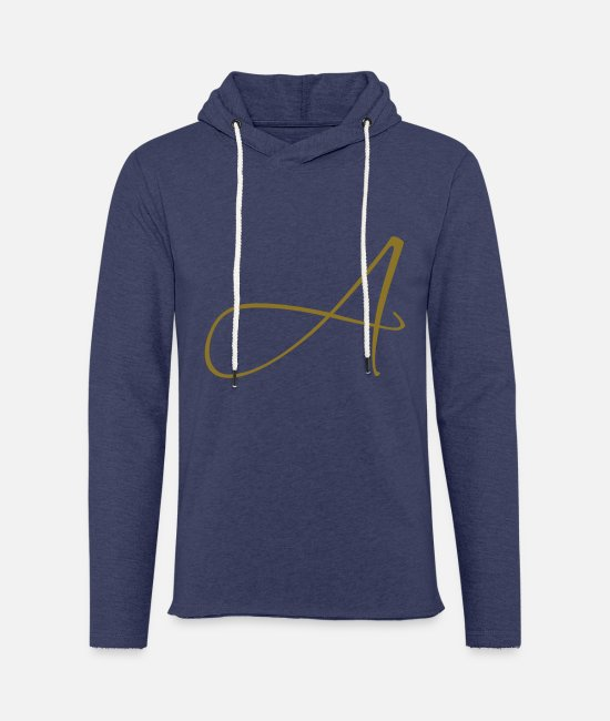 Beautiful Hoodies & Sweatshirts - Letter A - Unisex Sweatshirt Hoodie heather navy