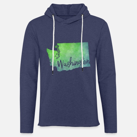 Usa Pullover & Hoodies - Washington - Unisex Kapuzen-Sweatshirt Navy meliert