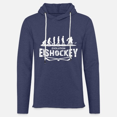 Hockey evolution Hockey sur glace blanc - Sweat-shirt à capuche léger unisexe