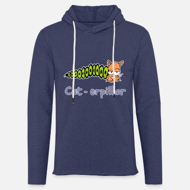 Hand Drawn cat-erpillar hand drawn - Light Unisex Sweatshirt Hoodie