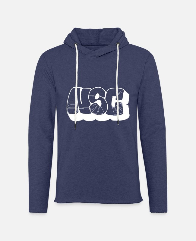 Nusho Hoodies & Sweatshirts - NSC Bombing White - Unisex Sweatshirt Hoodie heather navy