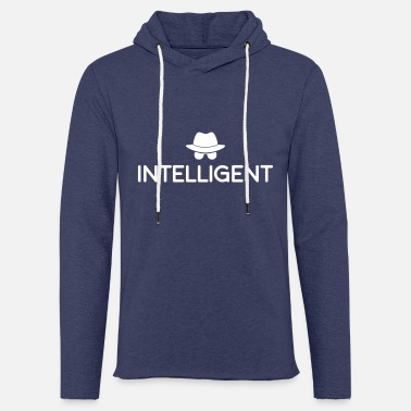 Intelligent Je suis intelligent - Sweat à capuche léger unisexe