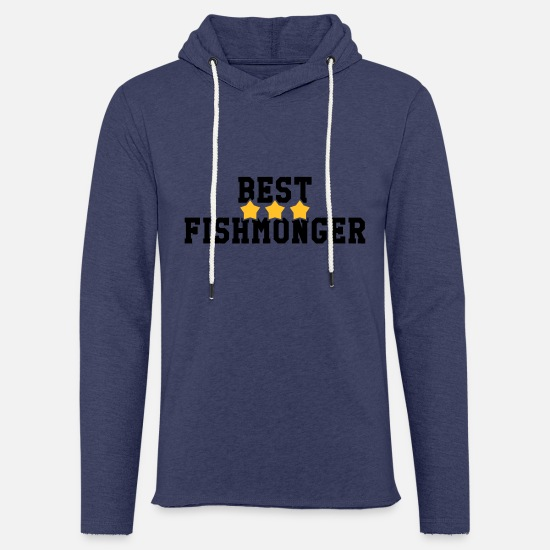 Boss Hoodies & Sweatshirts - Fishmonger / Fischhändler / Fish / Poissonnier - Unisex Sweatshirt Hoodie heather navy