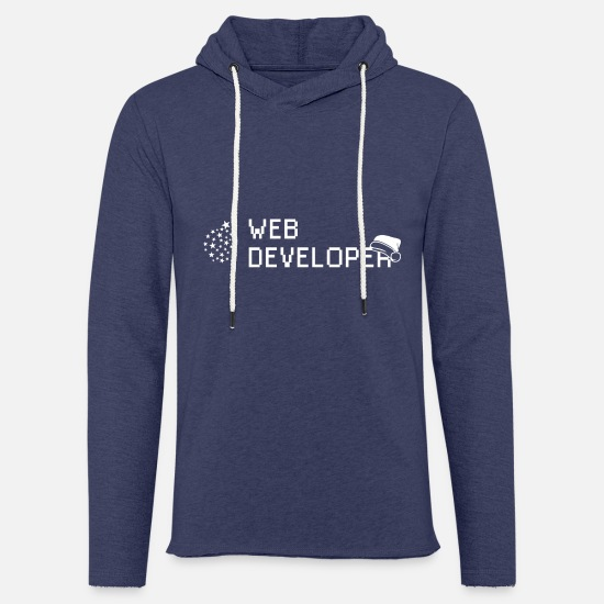 Gift Idea Hoodies & Sweatshirts - Web developer developer Christmas gift - Unisex Sweatshirt Hoodie heather navy