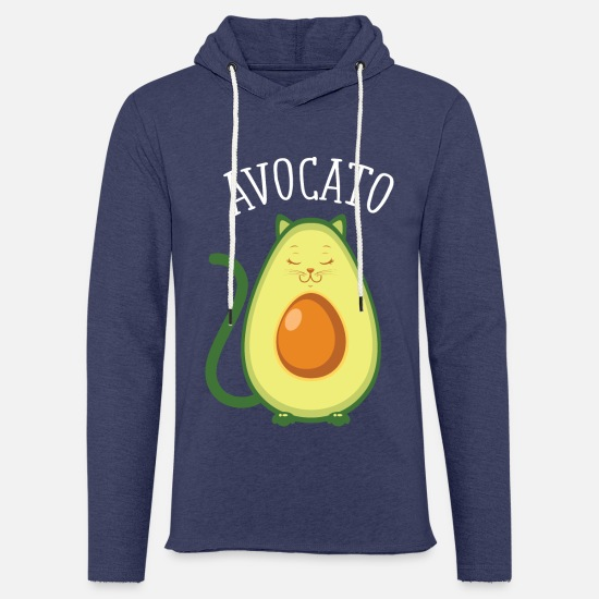 Vegan Hoodies & Sweatshirts - Avocato | Cute Cat Avocado Design - Unisex Sweatshirt Hoodie heather navy
