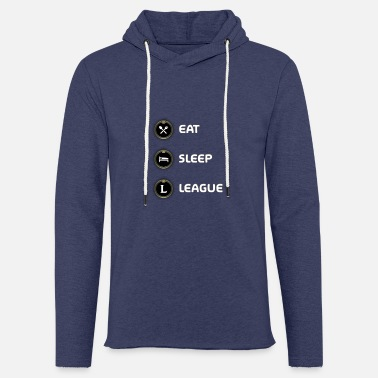 League Of Legends Eat, Sleep, League - Merch of Legends - Light Unisex Sweatshirt Hoodie
