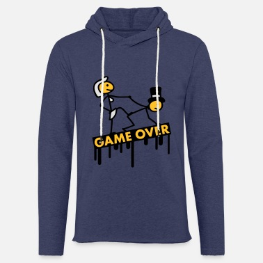 Knieend bachelor_party_game_over - Unisex Kapuzen-Sweatshirt