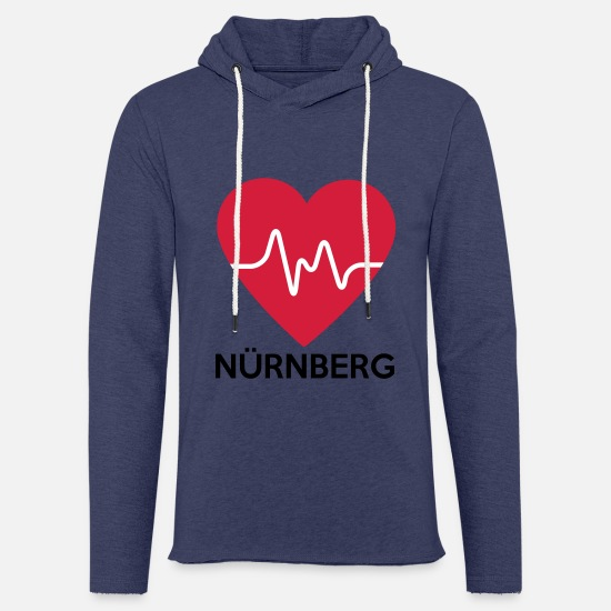 Love Hoodies & Sweatshirts - heart Nuremberg - Unisex Sweatshirt Hoodie heather navy