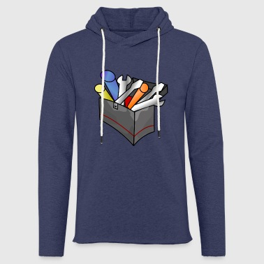 Spanner Toolbox with content gift - Light Unisex Sweatshirt Hoodie