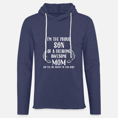 Proud Son, Awesome Mom - Unisex Sweatshirt Hoodie