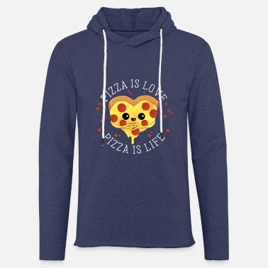 Restaurant Pizza is love Pizza is life - Salami Pizza Liebe - Unisex Sweatshirt Hoodie
