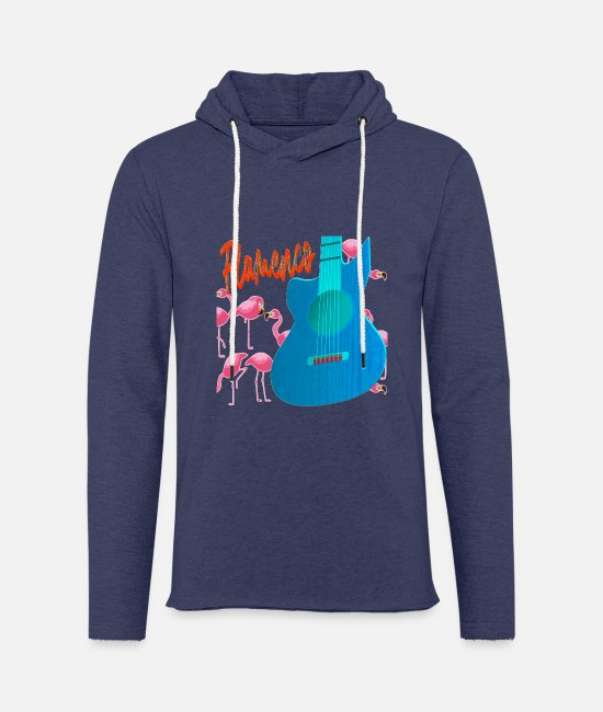 Guitar Player Hoodies & Sweatshirts - Flamenco guitar flamingos - Unisex Sweatshirt Hoodie heather navy