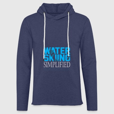 Water skiing, summer theme with water skiing - Light Unisex Sweatshirt Hoodie