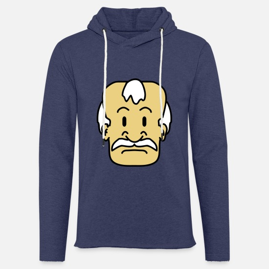 Old Man Hoodies & Sweatshirts - Old Man Face - Unisex Sweatshirt Hoodie heather navy
