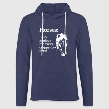 Horse - Horses - Riding Club - Riding Stables - Gift - Light Unisex Sweatshirt Hoodie