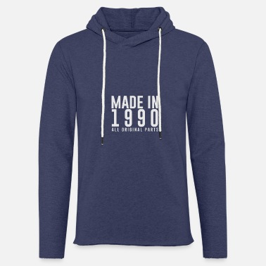 Date Of Birth MADE IN 1990 - BIRTHDAY - Light Unisex Sweatshirt Hoodie