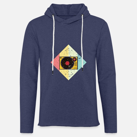 Gift Idea Hoodies & Sweatshirts - Turntable Oldschool - Unisex Sweatshirt Hoodie heather navy