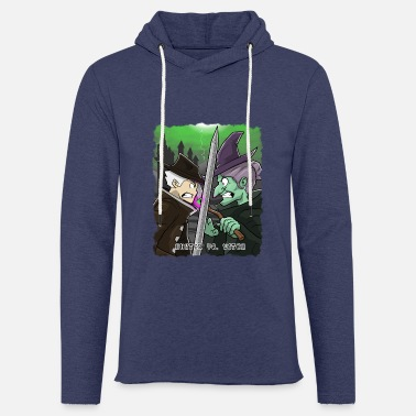 Hunter Hunter Vs. Witch witch halloween monster scary - Light Unisex Sweatshirt Hoodie
