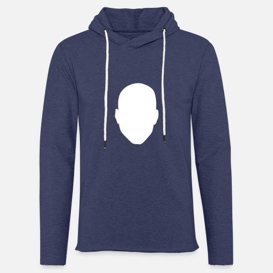 Gift Idea Hoodies & Sweatshirts - Bald No Hair Hairstyle Masculinity Gift - Unisex Sweatshirt Hoodie heather navy