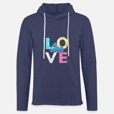Ragazzo I LOVE to Swim Great Swimmers Gift for All Swim - Felpa con cappuccio leggera unisex