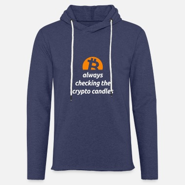 Bitcoin Cryptocurrency Coin Logo Crypto Candles - Unisex Sweatshirt Hoodie