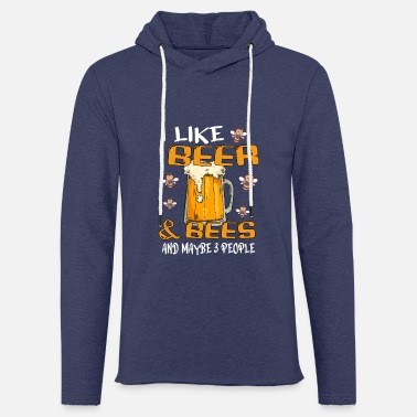Hive BEER / BEE / BEEKEEPER GIFT - Beer And Bee - Unisex Kapuzen-Sweatshirt