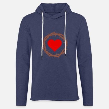 Crown of thorns with heart. Christie T-shirt. Jesus - Unisex Sweatshirt Hoodie