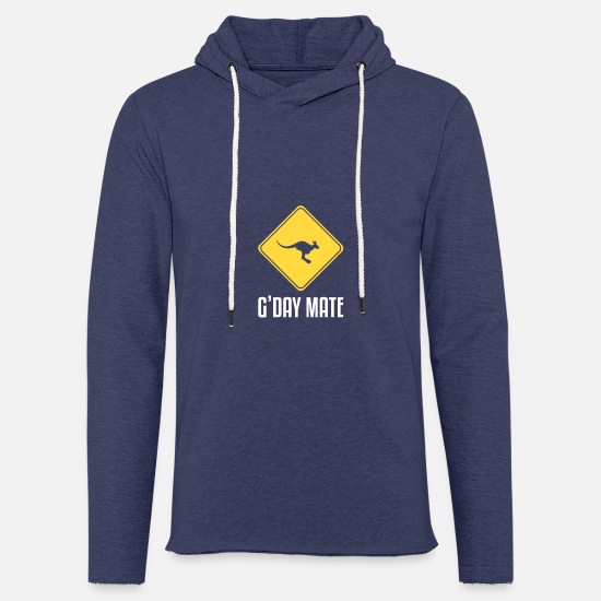 Mate Hoodies & Sweatshirts - G'Day Mate gift for Kangaroo Lovers - Unisex Sweatshirt Hoodie heather navy