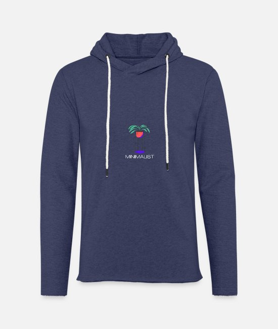 Art Hoodies & Sweatshirts - Minimalist Plant Design - Unisex Sweatshirt Hoodie heather navy