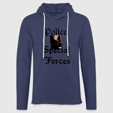 Police dog, Sheepdog, USA, - Light Unisex Sweatshirt Hoodie