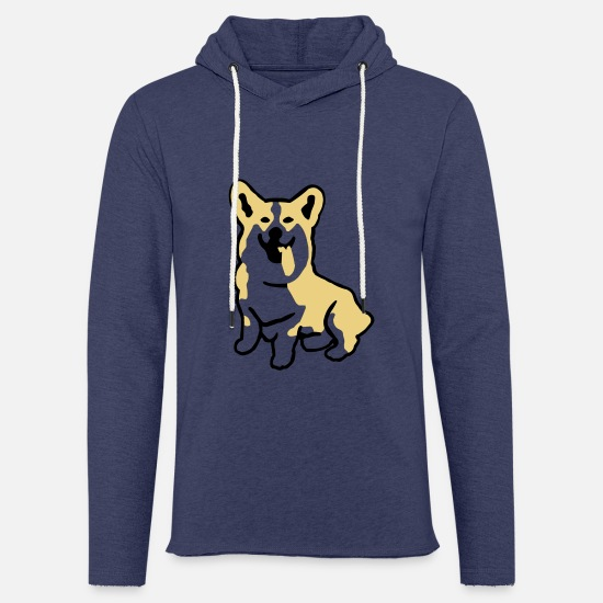 Welsh Hoodies & Sweatshirts - Welsh Corgi - Unisex Sweatshirt Hoodie heather navy