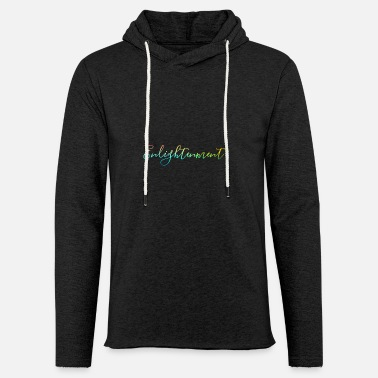 Enlightenment text Design - Unisex Kapuzen-Sweatshirt