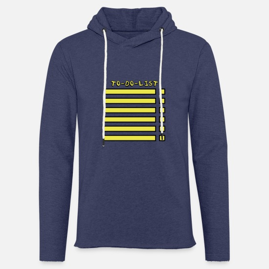 Zeit Pullover & Hoodies - To-Do-List - Unisex Kapuzen-Sweatshirt Navy meliert