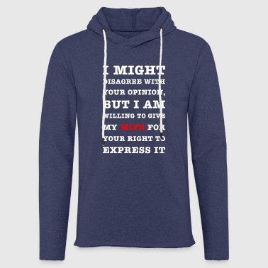 voltaire funny quote for smart-asses - Light Unisex Sweatshirt Hoodie