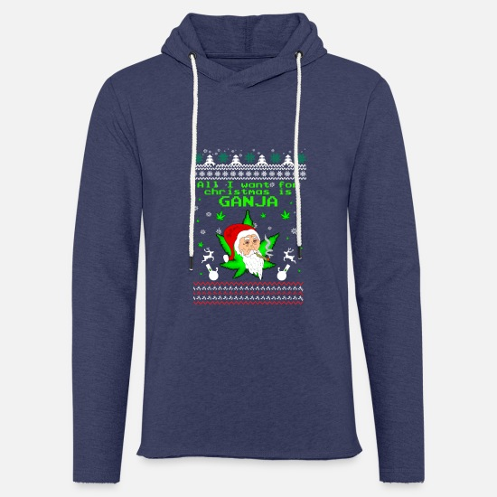 Christmas Hoodies & Sweatshirts - Ugly Christmas Santa Claus Nicholas Kiffen grass - Unisex Sweatshirt Hoodie heather navy