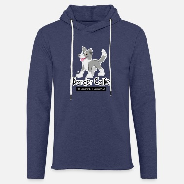 Dessin CartoonClub merle Border Collie - Sweat-shirt à capuche léger unisexe