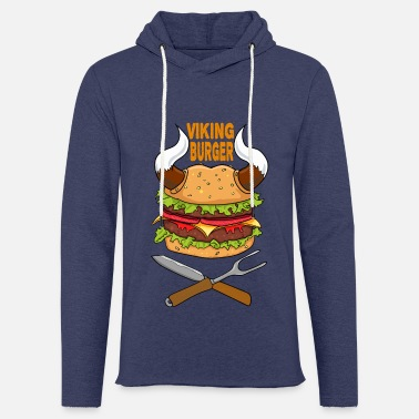 Cuisinier Viking Burger Nourriture Nourriture Pizza Restauration rapide Brainfood - Sweat-shirt à capuche léger unisexe