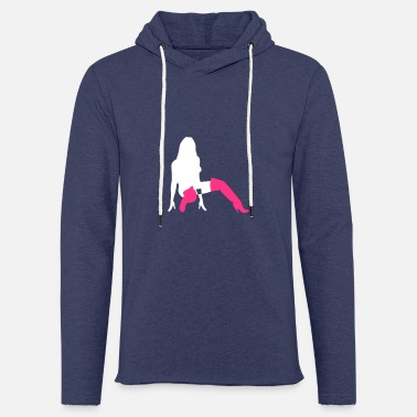 Erotic A Sexy Girl Kneeling On The Floor - Unisex Sweatshirt Hoodie